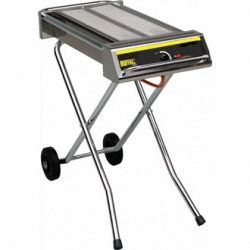 Folding Gas Barbeque On Wheels  600 x 290mm