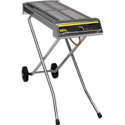 Folding Gas Barbeque On Wheels  870 x 290mm
