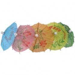 Paper Parasols Mixed Colour (Pack 144)
